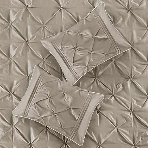 Madison Park Laurel 7 Piece Comforter Set Taupe Full 0 1