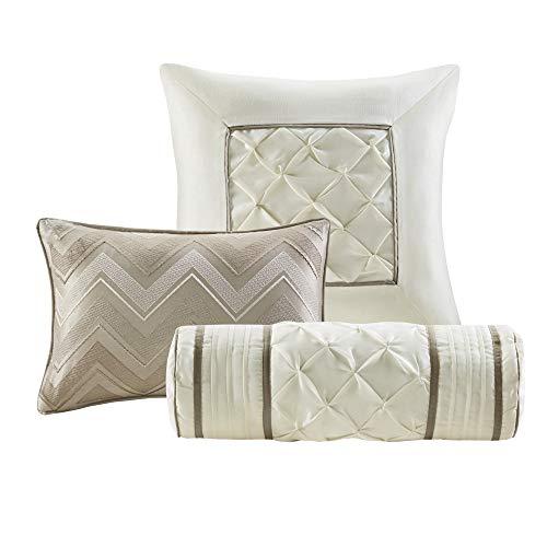Madison Park Laurel 7 Piece Comforter Set Taupe Full 0 2