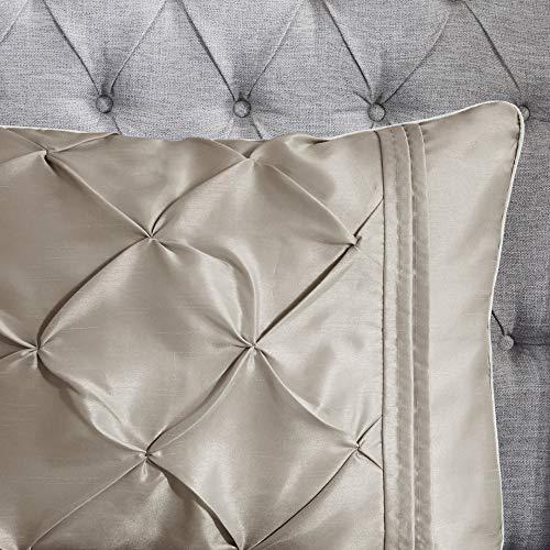 Madison Park Laurel 7 Piece Comforter Set Taupe Full 0 5