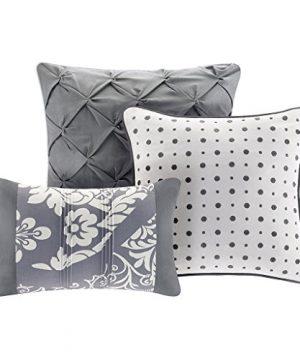 Madison Park MP10 501 Vienna 7 Piece Comforter Set Queen Grey 0 1 300x360