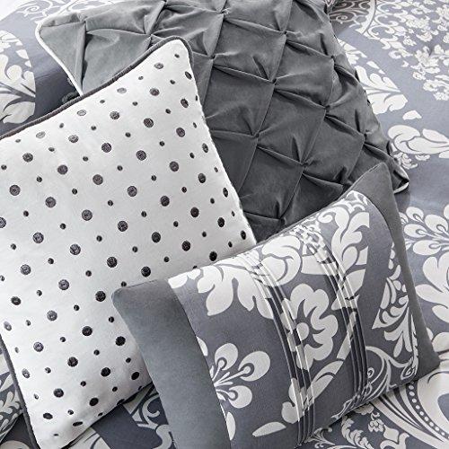 Madison Park MP10 501 Vienna 7 Piece Comforter Set Queen Grey 0 2