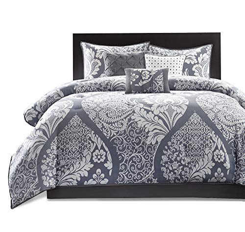Madison Park MP10 501 Vienna 7 Piece Comforter Set Queen Grey 0 4