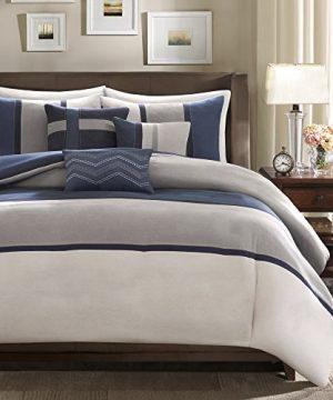 Madison Park Palisades 7 Piece Comforter Set Blue Queen 0 0 300x360