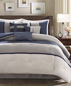 Madison Park Palisades 7 Piece Comforter Set Blue Queen 0 1 300x360
