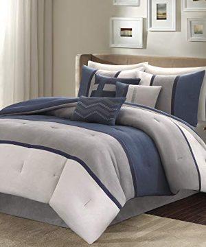 Madison Park Palisades 7 Piece Comforter Set Blue Queen 0 300x360