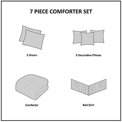 Madison Park Palisades 7 Piece Comforter Set Blue Queen 0 4