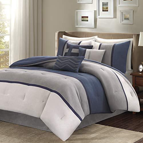 Madison Park Palisades 7 Piece Comforter Set Blue Queen 0