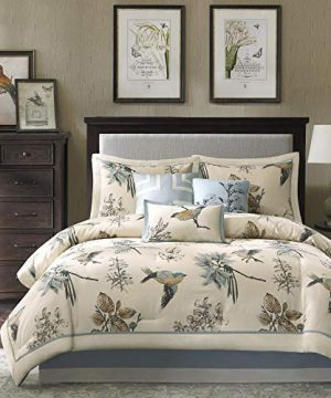 Madison Park Quincy King Size Bed Comforter Set Bed In A Bag Khaki Jacquard 7 Pieces Bedding Sets Ultra Soft Microfiber Bedroom Comforters 0 0 300x360