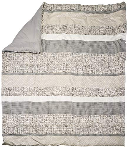 Madison Park Rhapsody King Size Bed Comforter Set Bed In A Bag Grey Striped 7 Pieces Bedding Sets Ultra Soft Microfiber Bedroom Comforters 0 0