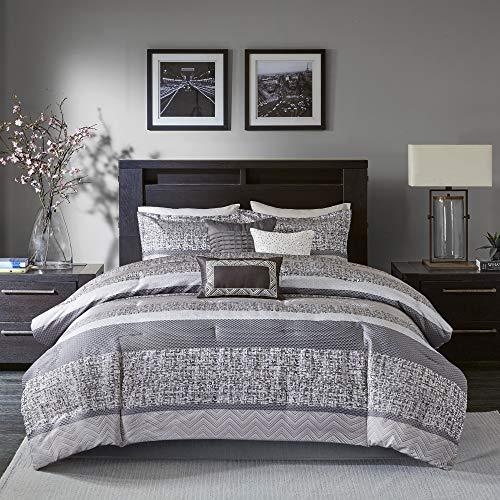 Madison Park Rhapsody King Size Bed, Grey King Size Bedding Next