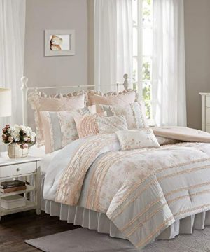 Madison Park Serendipity Cal King Size Bed Comforter Set Bed In A Bag Coral Floral 9 Pieces Bedding Sets 100 Cotton Bedroom Comforters 0 1 300x360