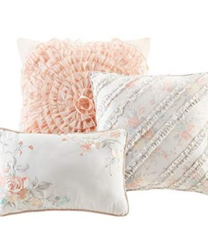 Madison Park Serendipity Cal King Size Bed Comforter Set Bed In A Bag Coral Floral 9 Pieces Bedding Sets 100 Cotton Bedroom Comforters 0 2 300x360