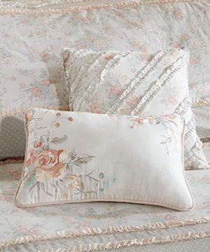 Madison Park Serendipity Cal King Size Bed Comforter Set Bed In A Bag Coral Floral 9 Pieces Bedding Sets 100 Cotton Bedroom Comforters 0 3 300x360