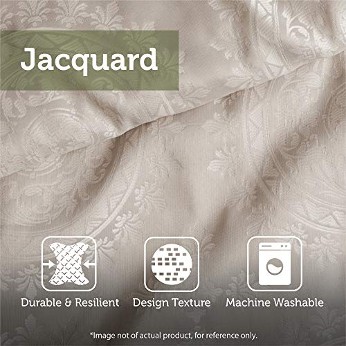 Madison Park Signature Chateau Queen Size Bed Comforter Duvet 2 In 1 Set Bed In A Bag Taupe Soutache Cord Embroidery 8 Piece Bedding Sets Faux Linen Bedroom Comforters 0 4