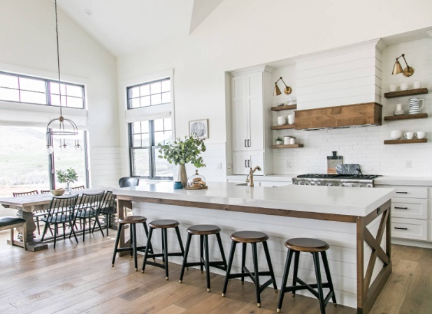 Modern Farmhouse Kitchen by Sita Montgomery Interiors
