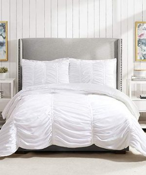 Modern Heirloom Collection Emily Texture Comforter Set Full Queen White 0 0 300x360
