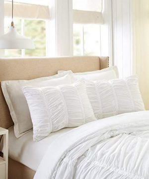 Modern Heirloom Collection Emily Texture Comforter Set Full Queen White 0 2 300x360