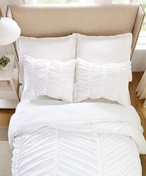 Modern Heirloom Collection Emily Texture Comforter Set Full Queen White 0 3 300x360
