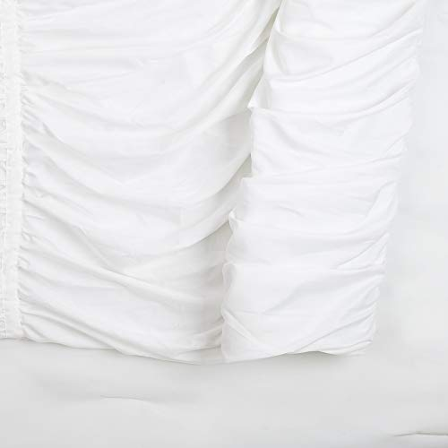 Modern Heirloom Collection Emily Texture Comforter Set Full Queen White 0 5
