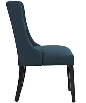 Modway Baronet Modern Tufted Upholstered Fabric Parsons Kitchen And Dining Room Chair In Azure 0 0 300x360