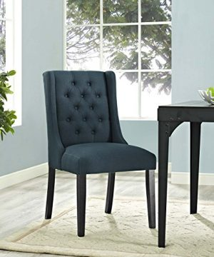 Modway Baronet Modern Tufted Upholstered Fabric Parsons Kitchen And Dining Room Chair In Azure 0 2 300x360