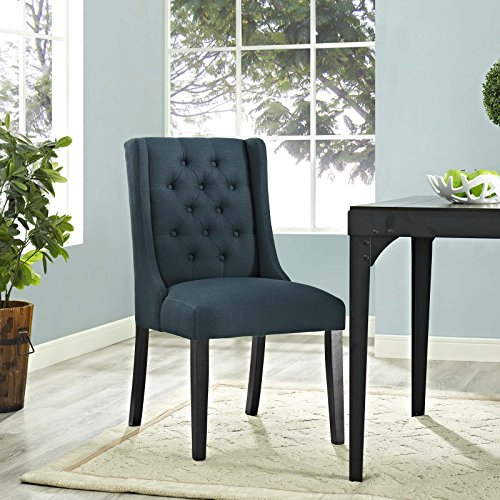 Modway Baronet Modern Tufted Upholstered Fabric Parsons Kitchen And Dining Room Chair In Azure 0 2