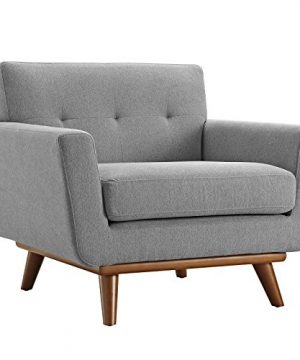 Modway Engage Mid Century Modern Upholstered Fabric 5 Piece Sectional Sofa In Gray Seating For Six 0 0 300x360