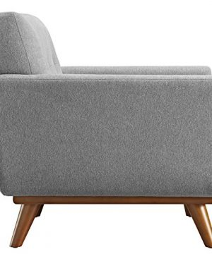 Modway Engage Mid Century Modern Upholstered Fabric 5 Piece Sectional Sofa In Gray Seating For Six 0 1 300x360