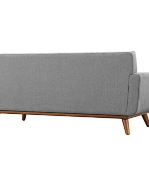 Modway Engage Mid Century Modern Upholstered Fabric 5 Piece Sectional Sofa In Gray Seating For Six 0 4 300x360