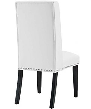 Modway MO Baron Modern Tall Back Wood Faux Leather Upholstered Dining Chair White 0 1 300x360