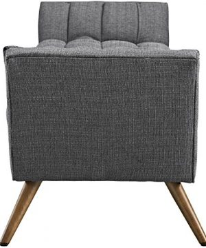 Modway Response Mid Century Modern Bench Large Upholstered Fabric In Gray 0 0 300x360