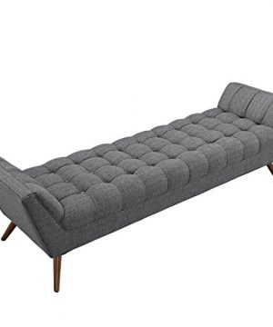 Modway Response Mid Century Modern Bench Large Upholstered Fabric In Gray 0 2 300x360