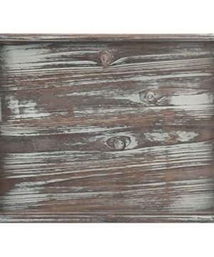 MyGift 16 X 12 Inch Rustic Torched Wood Breakfast Serving Tray With Cutout Handles 0 3 300x360