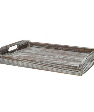 MyGift 16 X 12 Inch Rustic Torched Wood Breakfast Serving Tray With Cutout Handles 0 4 300x360
