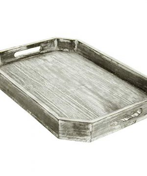 MyGift Country Rustic Wood Serving Tray With Cutout Handles And Angled Edges 0 3 300x360
