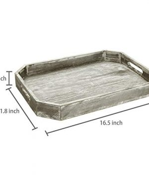 MyGift Country Rustic Wood Serving Tray With Cutout Handles And Angled Edges 0 4 300x360