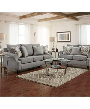 Overstock SofaTrendz Brinkley 2 Piece Grey Sofa And Loveseat 0 300x360
