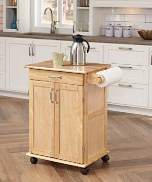 Paneled Door Kitchen Cart With Natural Finish By Home Styles 0 300x360