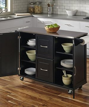 Patriot Black Kitchen Cart With Stainless Steel Top By Home Styles 0 0 300x360