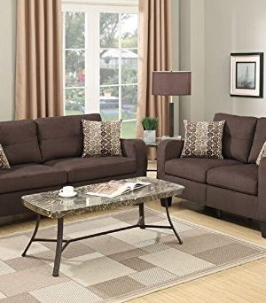 Poundex PDEX Sectional Set Chocolate 0 300x342