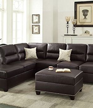 Poundex Upholstered SofasSectionalsArmchairs Espresso 0 300x347