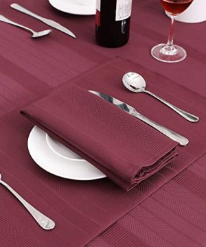 Randall Waffle Stripe Placemats 4pcs Set Heat Insulated Resistant Spot Clean Machine Washable Soft And Durable For Kitchen Dining Office Farmhouse 1218 Wine Red 0 2 300x360