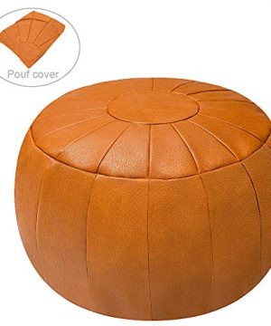 Rotot Decorative Pouf Ottoman Bean Bag Chair Foot Stool Foot Rest Storage Solution Or Wedding Gifts Unstuffed Tan 0 300x360