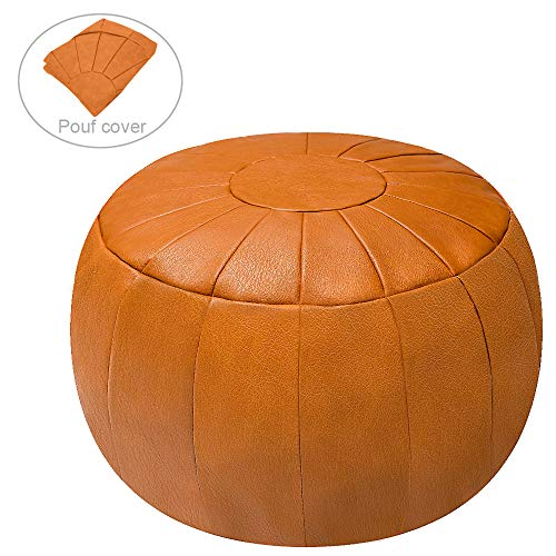 Rotot Decorative Pouf Ottoman Bean Bag Chair Foot Stool Foot Rest Storage Solution Or Wedding Gifts Unstuffed Tan 0