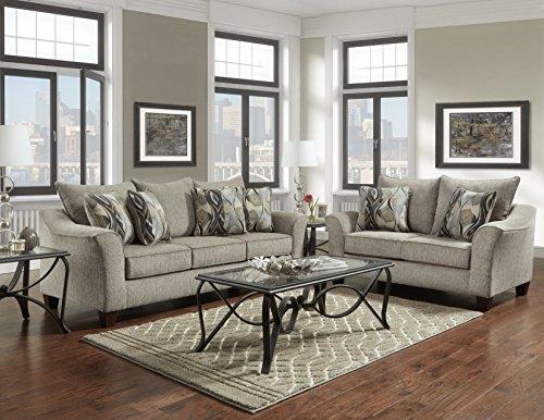 Roundhill Furniture Camero Sofa And Loveseat Set 0
