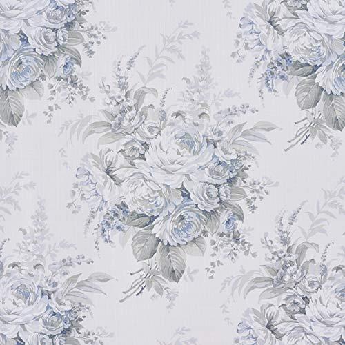 Royal Court Estelle Farmhouse Vintage Floral 4 Piece Comforter Set Blue King 104x92 0 2