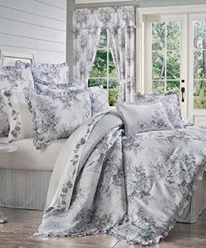 Royal Court Estelle Farmhouse Vintage Floral 4 Piece Comforter Set Blue King 104x92 0 300x360