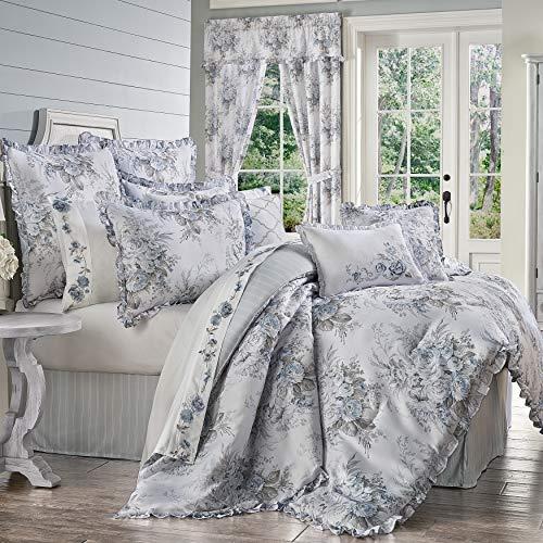 Royal Court Estelle Farmhouse Vintage Floral 4 Piece Comforter Set Blue King 104x92 0