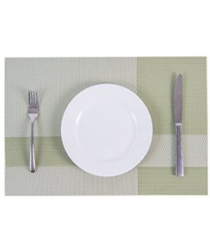 SUNSHINE FASHION Set Of 4 PlacematsPlacemats For Dining TableHeat Resistant Placemats Stain Resistant Washable PVC Table MatsKitchen Table Mats4 Plaid Green 0 2 300x360