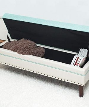 SYF Simple Modern Ottoman Storage Stool Solid Wood Sofa Cushion Flax Stool Footstool Living Room Bed End Stool Hall Clothing Store Shoes Stool A Size 60x40x40cm 0 300x360